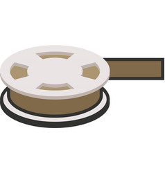 video camera film tape reel icon vector image