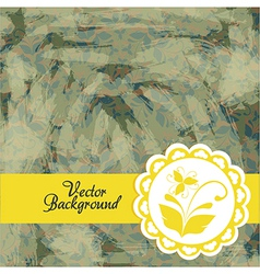 Vintage golden floral pattern wallpaper texture vector