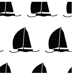 Wind in my sails yachts seamless pattern vector