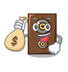with money bag speaker character cartoon style vector image