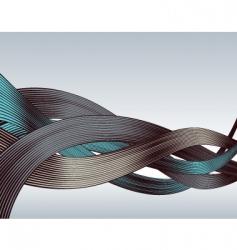 woodcut ribbons vector image