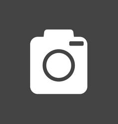 camera icon on black background flat vector image