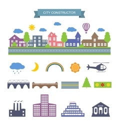 City constructor icons set vector image vector image