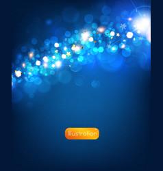 Elegant christmas background in blue vector