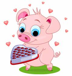 love pig vector image vector image