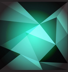 low poly design element on green gradient vector image vector image