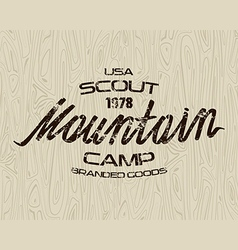 Mountain scout emblem for t shirt vector