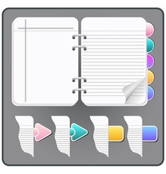 notebook pages vector image