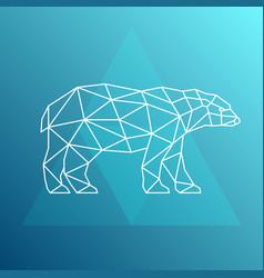 polar bear side view geometric style vector image vector image