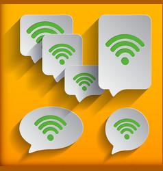 set of six speech wifi bubbles vector image