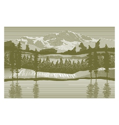 Woodcut Wilderness vector image