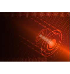 abstract digital technology color background or vector image vector image