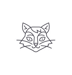 cat head line icon sign on vector image