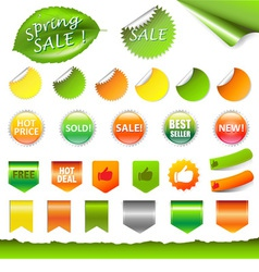 Retail Stickers vector image vector image