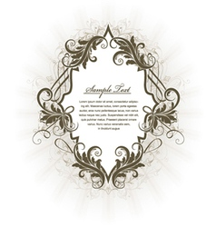 vintage label with floral vector image vector image