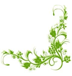 vintage retro floral background vector image vector image