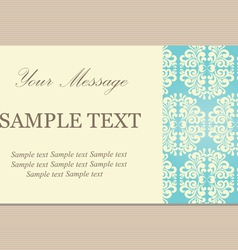 vintage vizit card vector image