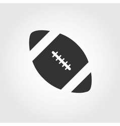 american football icon flat design vector image vector image