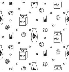 milk and biscuit scandinavian seamless vector image