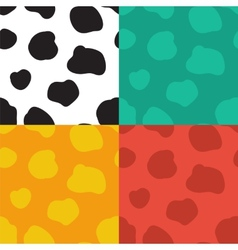 Seamless pattern with spotted cow texture vector image vector image