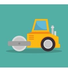 steamroller construction icon design vector image