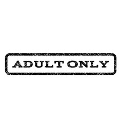 Adult only watermark stamp vector