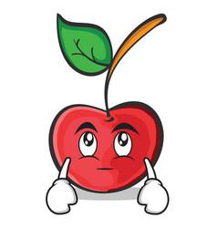 eye roll cherry character cartoon style vector image vector image