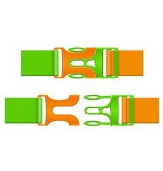 plastic buckle clasp 04 vector image vector image