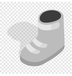 snowboard boots isometric icon vector image