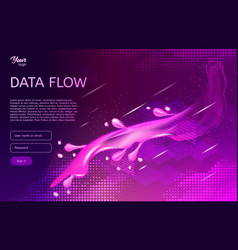 Abstract and creative concept of data flow vector