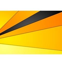 Abstract orange black corporate design vector image