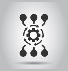 algorithm api software icon in flat style vector image