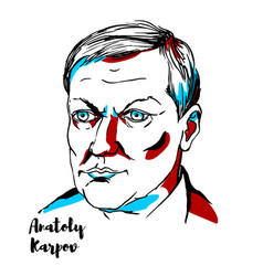 Anatoly karpov portrait vector
