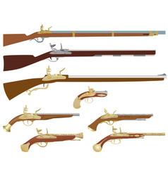 Antique firearms vector