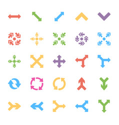 Arrows colored icons vector