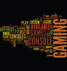 Best video game system text background word cloud vector