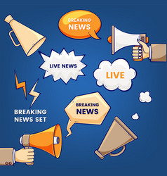 breaking news set vector image