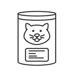 Canned cat food linear icon vector