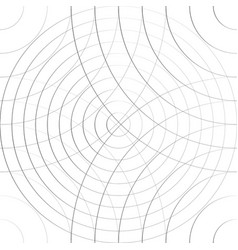 Cellular pattern with thin lines of circles vector