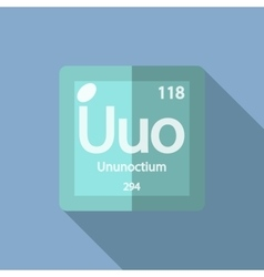Chemical element Ununoctium Flat vector