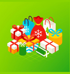 christmas presents concept vector image