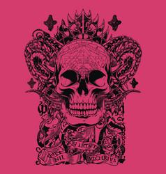 cobra skull vector image