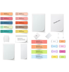 Collection of various white papers leaves for the vector