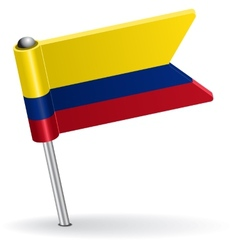Colombia pin icon flag vector