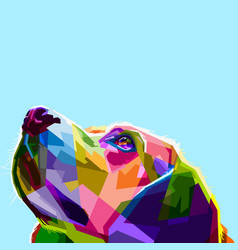 Colorful dog head vector