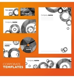 Corporate identity business set design Abstract vector