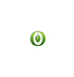 creative o letter olive logo vector image