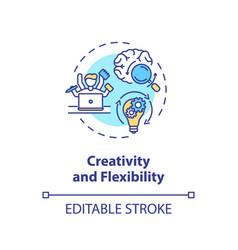 Creativity and flexibility concept icon vector