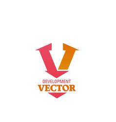 development creative sign vector image