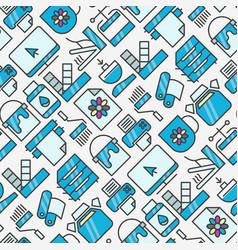 digital printing seamless pattern vector image